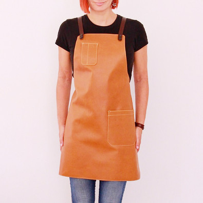 Leather apron BUFFALO for ladies cedar