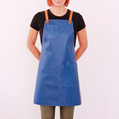 Leather apron BUFFALO for ladies blue jeans